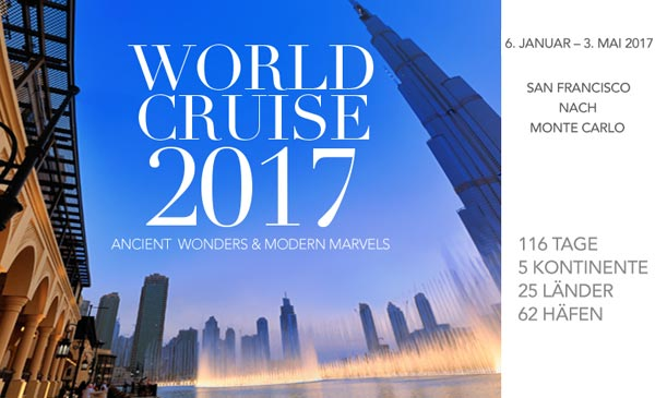 Silversea World Cruise 2017 Weltreise
